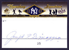 2008 Upper Deck SP Legendary Cuts Signatures LC-JD Joe Dimaggio Autograph 03/25
