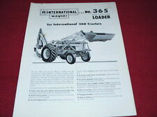 International Harvester Wagner No.365 Loader for 560 Tractor Dealer's Brochure