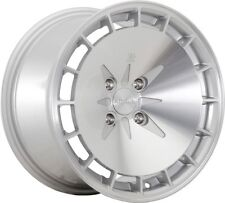16X9 +18 Klutch KM16 4x100 Silver Machined Wheel Fits Sienna Camry Galanti Lance