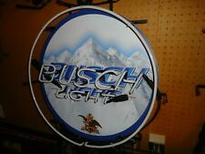 Busch Light Beer Lighted Neon Bar Sign Big Man Cave Sale Check It Out Mint