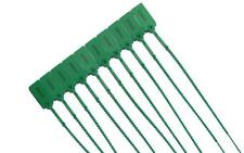 100 X Green Plastic Security Tags Numbered Pull Ties Secure Anti-Tamper Seals