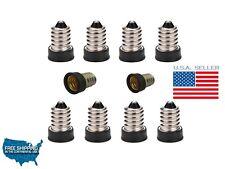 10X E14 To E12 Adapter Converter Lamp Holder Base Sockets Light Bulbs Candelabra