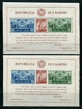 SAN  MARINO  SCOTT#239  SOUVENIR SHEET  PERF AND IMPERF MINT NEVER HINGED