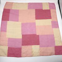 """21"""" Vintage Pink Color Block Peach Geometric MCM Sheer Scarf Spring Pastel"""