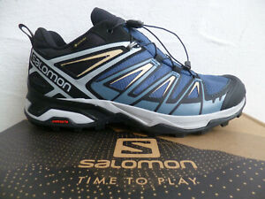 Salomon Trainers Low Shoes Sneakers Trainers X Ultra 3 Blue Waterproof New