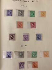 1945 Occupied Germany Allied Military Post Stamps -Various Perforations 2 sets