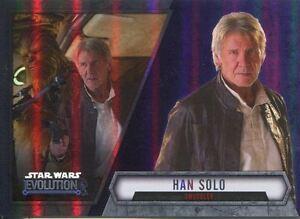 Star Wars Evolution 2016 Purple Parallel Card #45 Han Solo - Smuggler
