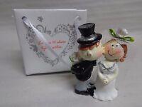 Figur Brautpaar , lustig, Tortenfigur, Deko, Hochzeit, Heirat, 5,5 cm  NEU
