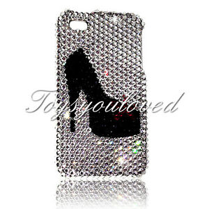 Custom Clear crystal shoe Case FOR IPHONE X made with Swarovski Elements