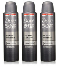 3 Pack Dove Men + Care Silver Control 48 Hour Protection Deodorant Spray 150ml