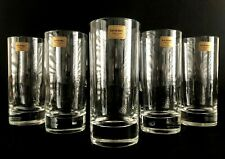 "Set Of 5 Luminarc Verrerie D'Arques France Clear Highball Glasses 5 1/8"" Tall"