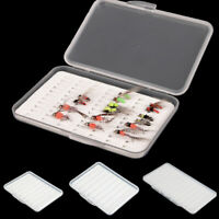 New Super Slim Transparent Fly Fishing Box Magnetic Foam Design Plastic Durable