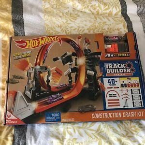 Hot Wheels Track Builder System Construction Crash Kit 40pcs+ Children NEW