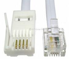 20m RJ11 to BT Modem Cable Lead Telephone Phone Plug BT Socket 4 Pin STRAIGHT