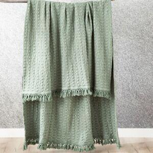 Renee Taylor Alysian Washed Cotton Textured Throw -Jade