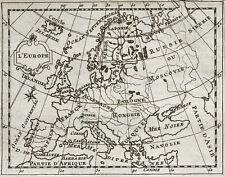 1773 L'Europe - Carte géographique ancienne, très rare. Gravure