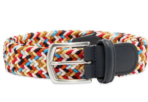 NEW $185 Anderson's Woven Multicolor Braided belt size 34
