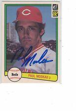 1982 Donruss Paul Moskau Cincinnati Reds  Authentic Autograph COA
