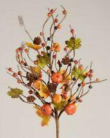 """LAVENDER BABY BUD Pick Stem Green Leaves Wedding Spring Summer 11/"""" Crafts"""
