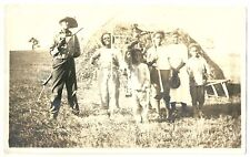 African American WORKERS FAMILY Harvest Black Americana Photograph Photo Vintage