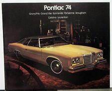 1974 Pontiac Prix Bonneville Parisienne Catalina Laurentian Canadian Brochure