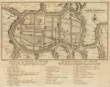 'Plan de la Ville de Siam'. Ayutthaya city plan, Thailand BELLIN/SCHLEY 1755 map