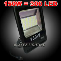 150W Cool White LED Flood Light Outdoor Security Garden Landscape Wall Spot Lamp