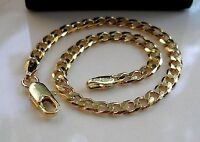 BEAUTIFUL 9ct Gold gf Curb Bracelet STUNNING, (15)