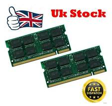 4GB 2x2gb PC2-5300 DDR2 PC5300 667Mhz SoDimm 200pin Laptop Memory ram UK