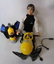 Seaworld Scuba Doll Tank Flippers Watch Underwater Propeller Set Ken Barbie Tank