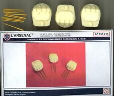 L'Arsenal Models 1/350 SECONDARY TURRETS with GUN BARRELS for the RICHELIEU