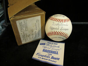 1962 Mickey Mantle Campbell's Soup Promotional Official League Rawlings Baseball