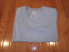*NEW * CHAMPION DOUBLE DRY TEXTURED LT. BLUE V NECK T SHIRT  - SIZE L *