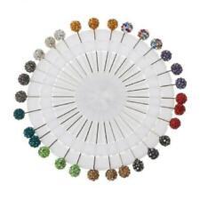 Crystals Ball Brooches Straight Head Pins 30Pcs Muslim Scarf Hijab Safety Pins