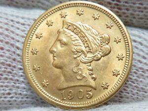 1905 $2.50 Gold Liberty Quarter Eagle