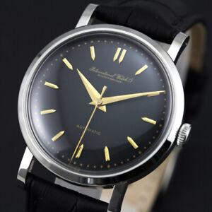 Vintage IWC Schauffhausen Automatic Cal 852 Black Dial Men`s Dress Swiss Watch