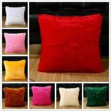 Faux Fur Fluffy Plush Throw Pillow Cases Shaggy Soft Chair Sofa Cushion Cover TO