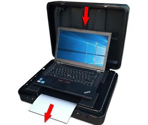 Aussendienstkoffer ~ LENOVO ~T460~ 16GB~ 512SSD/ HP-Drucken / Scannen / Kopieren