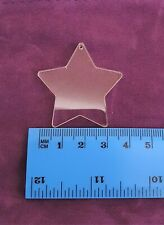 Single Clear 40mm Acrylic Shapes Round Heart Star Square or Custom, 3mm Thick