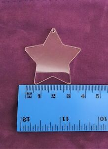 Clear 40mm Acrylic Shapes PACK OF 10, Round, Heart, Star, Square, 3mm Thick