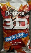 NEW PARTY SIZE DORITOS 3D CRUNCH CHILI CHEESE NACHO TORTILLA CHIPS 9 1/4 OZ BAG