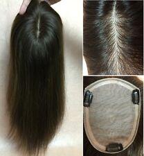 """5x6""""100% human hair SILK TOP 130% brown hair topper fall top piece for women 16"""""""
