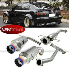 """Fits 03-07 Mazda 6 S V6 4"""" Tip Stainless Steel Catback Dual Exhaust Blue Tip"""