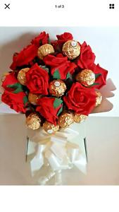 Chocolate Gift Box Hamper Red Ferrero Rocher Bouqet Birthday personalised