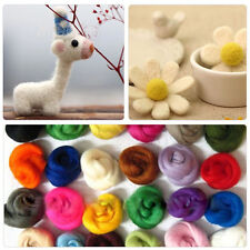 36 Colors Merino Wool Fibre Roving For Needle Felting Hand Spinning Pro  POP!