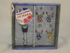 Las Vegas 5 Piece Wine Set by Lsarts, Inc.