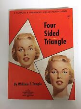 Four Sided Triangle By John F. Temple (Galaxy Science Fiction Novel #9) 1951