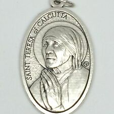 Mother Teresa of Calcutta Pendant Oxidized Silver 1 1/2 Inch