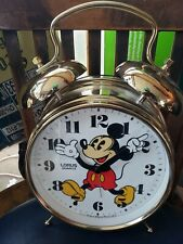 Mickey Mouse Alarm Clock Walt Disney Productions Battery Operated