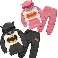 Baby Kinder Jungen Mädchen Batman Kapuzepullover Jogginganzug Hoodie Hose Outfit